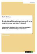 Erfolgsfaktor Mitarbeitermotivation: Diverse Anreizsysteme auf dem Prüfstand