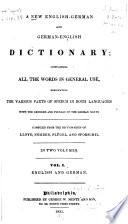 A New English German and German English Dictionary