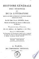 Histoire générale des sciences et de la littérature
