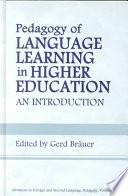 Pedagogy of Language Learning in Higher Education