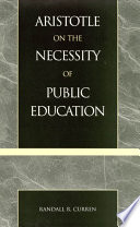 Aristotle on the Necessity of Public Education Book PDF