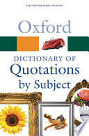 Oxford Dictionary of Quotations by Subject