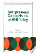 Interpersonal Comparisons of Well Being