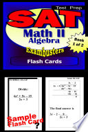 SAT 2 Math Level II Test Prep Review  Exambusters Algebra 1 Flash Cards  Workbook 1 of 2