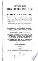 Catalogue des livres de     A M H  Boulard