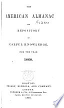 The American Almanac and repository of useful knowledge for the year 1860 Book PDF