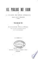 Sul parlare dei Sardi e la derivazione dell  articolo determinativo nelle lingue neolatine