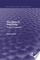 The State of Psychiatry  Psychology Revivals