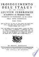 Versione  e proseguimento dell Italus al ch  signor Giustin Febbronio dello stato della Chiesa  Tomo primo   terzo
