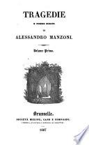 Tragedie e poesie scelte di Alessandro Manzoni