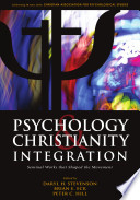 Psychology Christianity Integration book