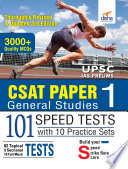 CSAT Paper 1 General Studies 101 Speed Tests with 10 Practice Sets   3rd Edition