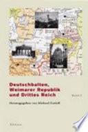Deutschbalten, Weimarer Republik und Drittes Reich