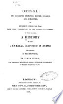 A History Of The General Baptist Mission Established In The Province