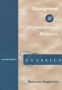 Management and Organizational Behavior Classics