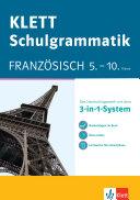 Klett Schulgrammatik  Franz  sisch 5  10  Klasse mit Online   bungen und mobile Lernkarten