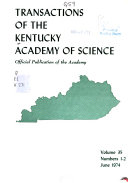 Transactions of the Kentucky Academy of Science