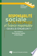 illustration du livre Responsabilité sociale d'entreprise et finance responsable
