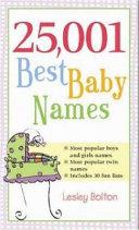 25 001 Best Baby Names