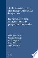 Les Mandats Français Et Anglais Dans Une Perspective Comparative
