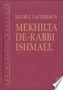 Mekhilta De Rabbi Ishmael  JPS Classic Reissues