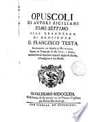 Opuscoli Di Autori Sigiliani