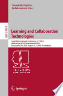 Learning And Collaboration Technologies book