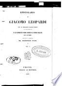 Epistolario con le inscrizioni greche triopee da lui tradotte e le lettere di Pietro Giordani e Pietro Colletta all  autore   reccolta e ordinato da Prospero Viani