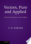 Vectors  Pure and Applied