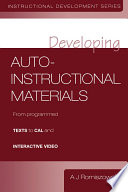 Developing Auto instructional Materials