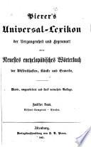 Pierer s Universal Lexikon der Vergangenheit und Gegenwart