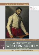 History of Western Society  Value Edition