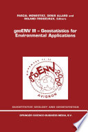 geoENV III — Geostatistics for Environmental Applications