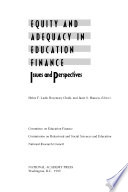 Equity And Adequacy In Education Finance