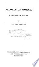 Records of woman  with other poems