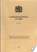 Constitutional Reform Act 2005