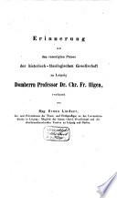 Erinnerung an C.F. Illgen