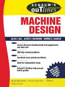 Schaum s Outline of Machine Design