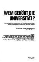 Wem gehört die Universität?