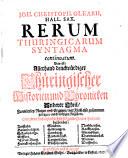 Rerum Thuringicarum Syntagma