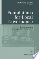 Foundations for Local Governance Of Stakeholders Are Willing To Share Responsibilities