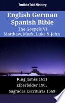 English German Spanish Bible The Gospels Vi Matthew Mark Luke John