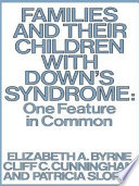 Families And Their Children With Down S Syndrome