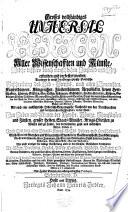 Grosses Vollst Ndiges Universal Lexicon Aller Wissenschaften Und K Nste Welche Bisshero Durch Menschlichen Verstand Und Witz Erfunden Und Verbessert Worden