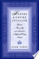 Before the Empire of English  Literature  Provinciality  and Nationalism in Eighteenth Century Britain