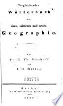 Vergleichendes Wörterbuch der alten, mittleren und neuen Geographie