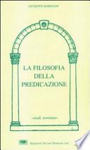 La filosofia della predicazione