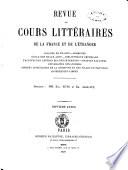 Revue des cours litteraires de la France et de l etranger litterature  philosophie  theologie  eloquence