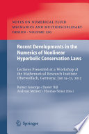 Ebook Recent Developments in the Numerics of Nonlinear Hyperbolic Conservation Laws Epub Rainer Ansorge,Hester Bijl,Andreas Meister,Thomas Sonar Apps Read Mobile