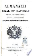 Almanach royal et national pour l'an... - Paris chez A. Guyot et Scribe,-1847